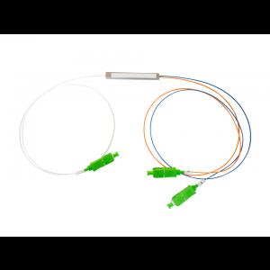 Splitter Óptico PLC 1x2 Conectorizado SC/APC OT-8301-APW